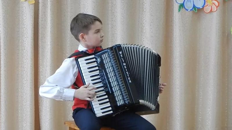 Ю.Гаврилов сюита Живой уголок в 4-х частях, исполняет Илья Алексеев, 11 лет