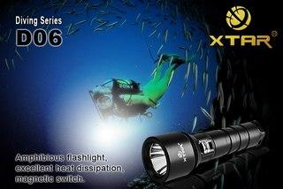 Фонарь для подводной охоты и дайвинга D06 Set XP-G R5 350 lumens купить в интернет магазине.