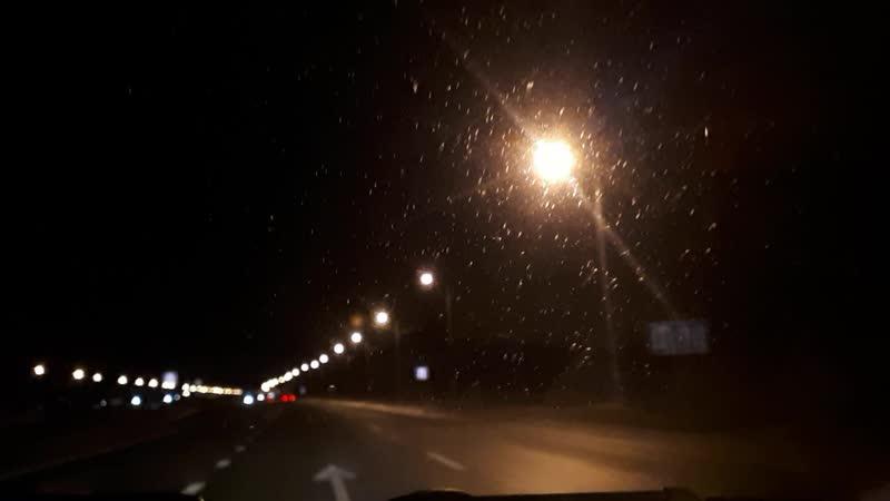 Ночная трасса Екатеринбург - Челябинск