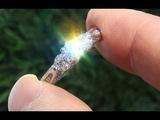 Certified Natural VS1G 3 Stone Past Present Future Diamond 14k White Gold Ring - C729