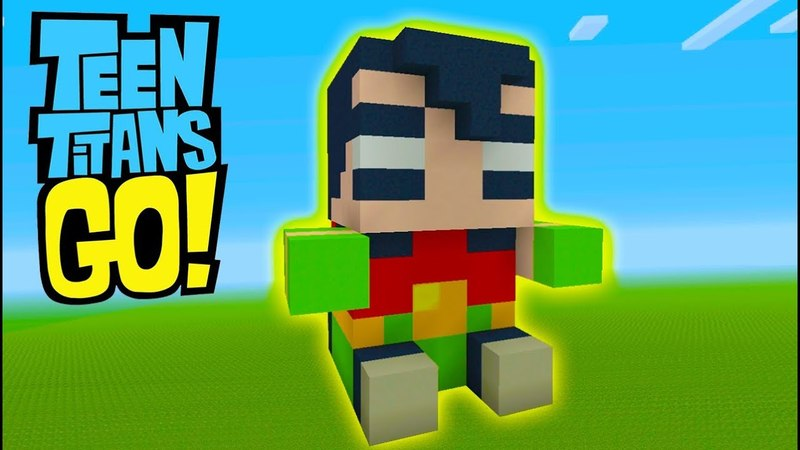 Minecraft Tutorial How To Make A Robin Plushy Teen Titans GO!