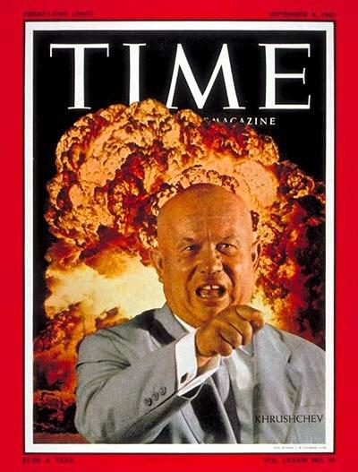 Хрущев на обложка Time Magazine за 6 сентября 1961 г.