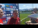 Интервью Игоря Денисова после тренировки сборной России в Швейцарии