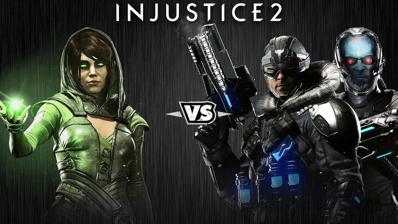 Injustice 2 - Чаровница против Капитана Холода и Мистера Фриза - Intros Clashes (rus)