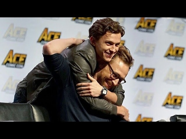 Tom Holland Crashing Tom Hiddleston's Panel