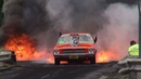 BLOWN V8 HOLDEN HQ KRANKY CATCHES FIRE IN THE BURNOUT FINALS AND LIGHTS UP KANDOS