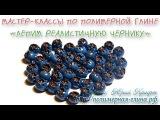 Мастер-класс по лепке ягод черники - голубики из полимерной глины. Polymer clay