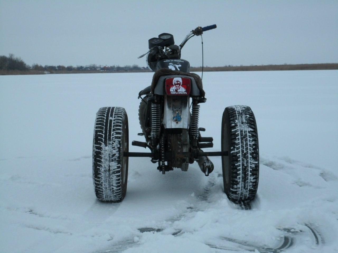 Как сделать снегоход трицикл