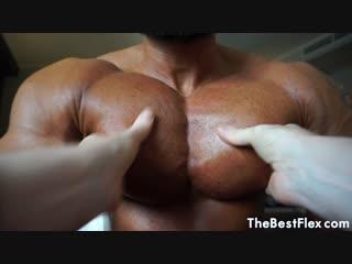 The best flex - muscle diamond (massive pecs muscle worship)