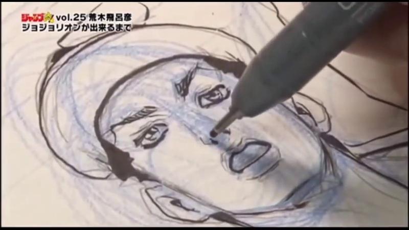 Araki draws Jojolion Manga Panels [4x Faster Version]