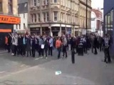 Riots in Newcastle 14/04/13 after 3-0 defeat from Sunderland.