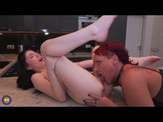 Asslicking, lesbian, masturbation, old & young, lesbians, shaved, 1080p