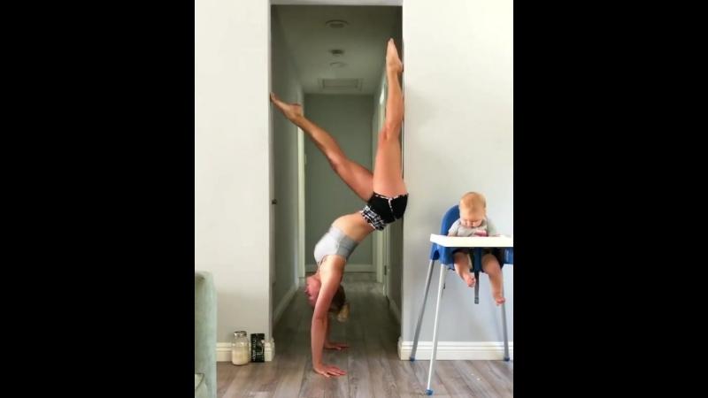 Когда ребенок хочет, но должен ждать, пока мама-медведь закончит тренировку?