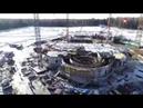 Как строится Главный храм ВС РФ видео с коптера