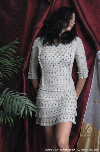 Красивое платье крючком (8 фото) - картинка