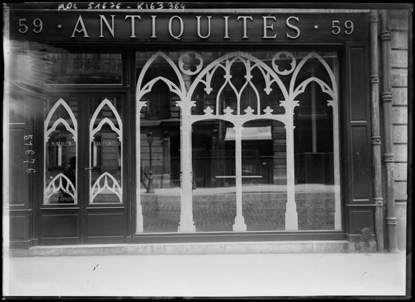 Защита стекол от немецких бомб и снарядов на витринах французского Парижа времен I Мировой Войны