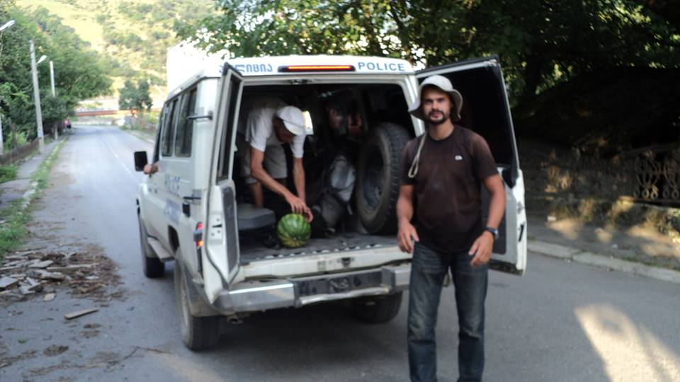 автостоп грузинской полицией