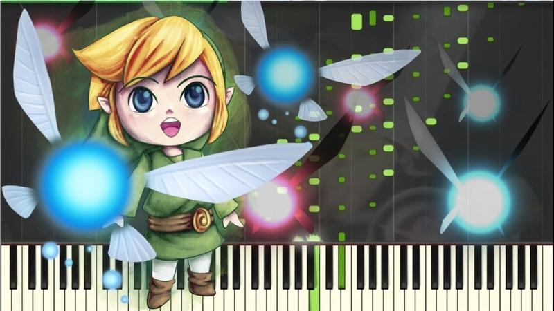Zelda Fairy's Fountain Nostalgic Piano Piano Tutorial Synthesia Kyle Landry MIDI
