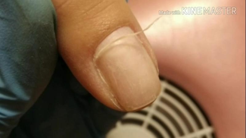 Комбиманикюр с покрытием гель-лаком