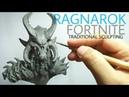 Sculpting Ragnarok from Fortnite oil based clay