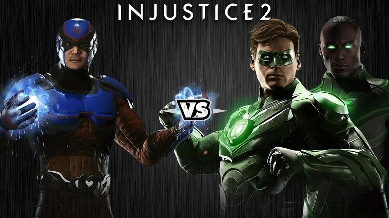 Injustice 2 - Атом против Зелёных Фонарей - Intros Clashes (rus)