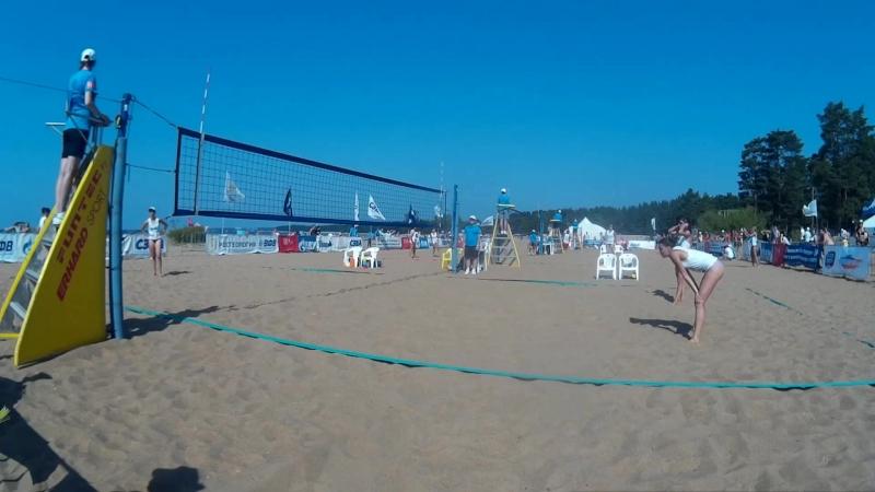 Beach volley Russia Solnechnoe 2018 W 04 Moiseeva-Syrtseva and Igusheva-Yaremenko