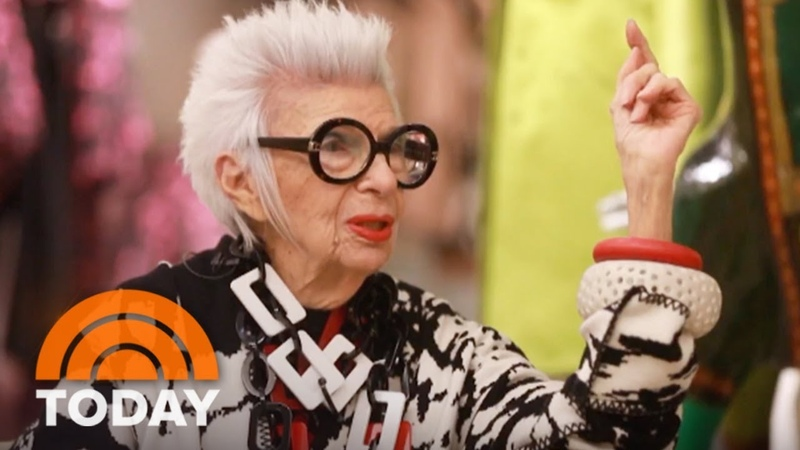 96-Year-Old Fashion Icon Iris Apfel Ripped Jeans Are 'Insanity' | TODAY