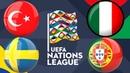 Lucky ставка Прогноз на Лигу Наций УЕФА Турция - Швеция Италия - Португалия