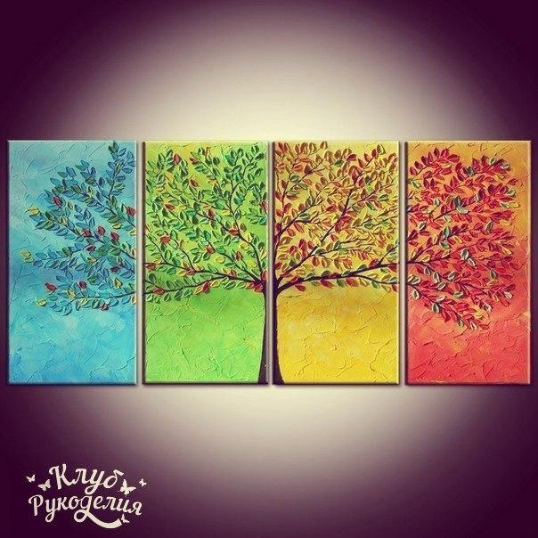 Объемное дерево времена года