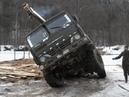 РОССИЙСКИЕ ГРУЗОВИКИ УРАЛ КАМАЗ НА ЛЕСНОМ БЕЗДОРОЖЬЕ СИБИРИ I RUSSIAN the driver of the truck
