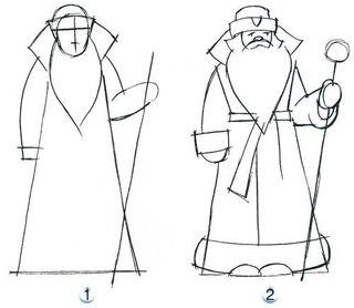 научиться рисовать Деда