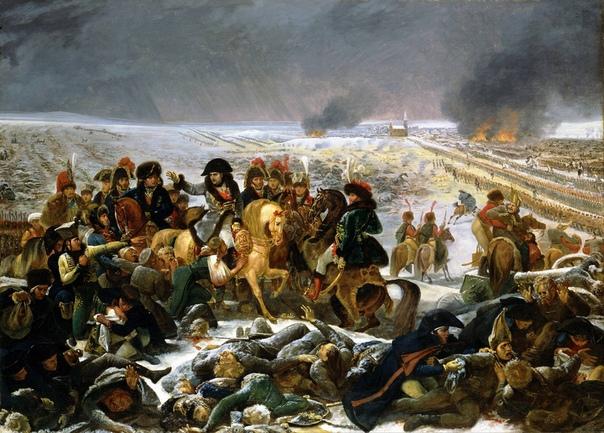 Наполеон в битве при Эйлау.