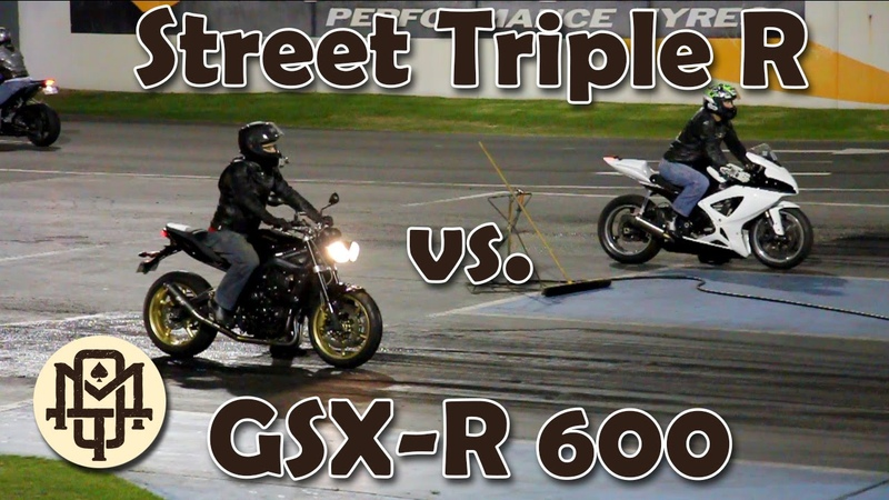 Suzuki GSX R 600 Vs Triumph Street Triple R 675 Drag Race