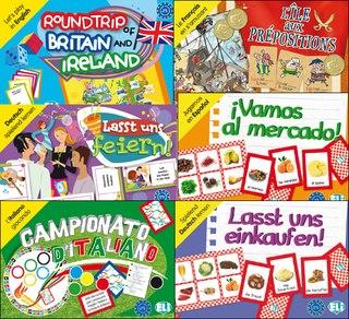 Learning Languages The Pleasant way!  Издательство ELI выпустило серию развивающих игр на пяти языках. Предлагаем вам описание наиболее популярных игр на русском языке. Познакомиться со всеми играми вы можете на сайте издательства