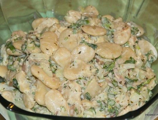 Фасоль белая салат рецепт