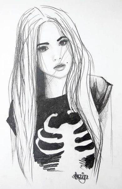 фотки нарисованных девушек: