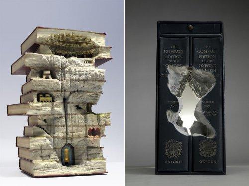 Ландшафты, вырезанные из книг Существует хорошо известная фраза о том, что о книге не стоит судить по обложке. Для Гая Ларами (Guy Laramée) содержание книг является не единственным важным