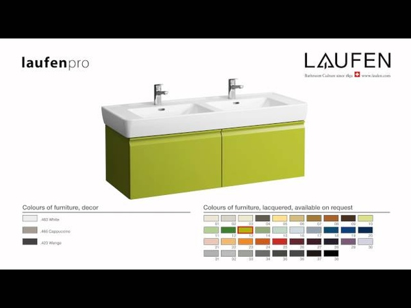 LAUFEN pro furniture - compliments perfectly this extensive range