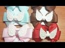 Легкие бантики канзаши МК Красивые бантики Канзаши Бантики с крылышками ribbon bantik