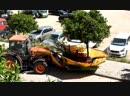 Уборка мандаринов на улицах Валенсии