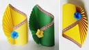 How To Make a Flower Vase at Home | Making Paper Flower Vase | DIY Simple Paper Crafts