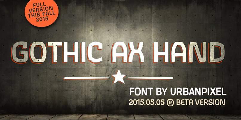 Download GothicAXHand-Regular font (typeface)