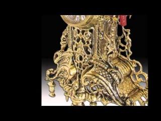 Каминные бронзовые часы с канделябрами