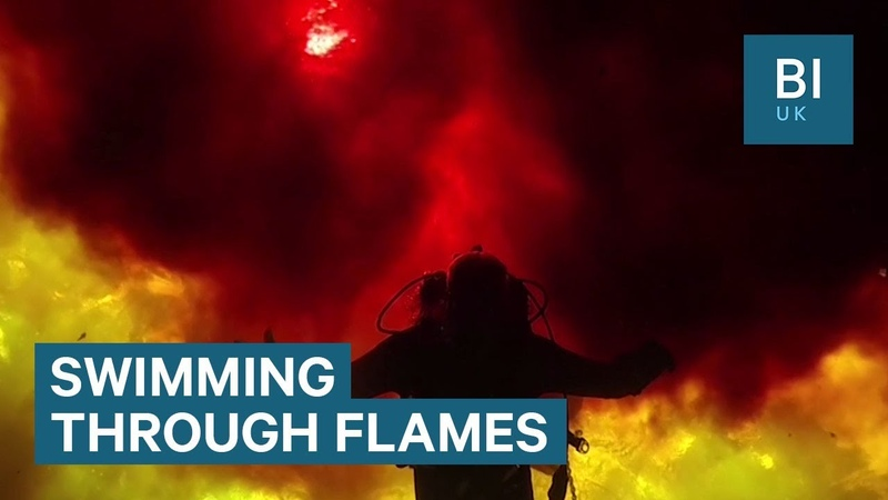 Natural phenomenon makes water look like fire