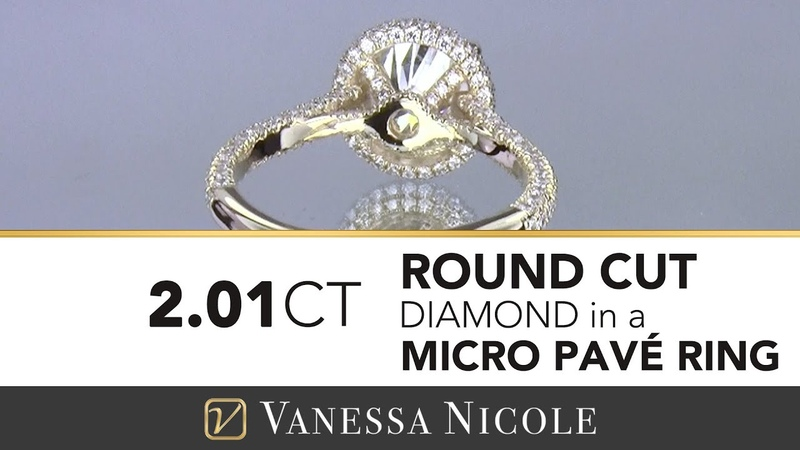 Micro Pave | 2 Carat Round Diamond Ring for Valerie (MAJOR Bling!)