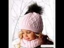 Детский комплект шапочка снуд и варежки Часть №1