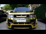 Saudi ARAB flies into London with latest Toy - a 666 Gold Range Rover worth £150,000