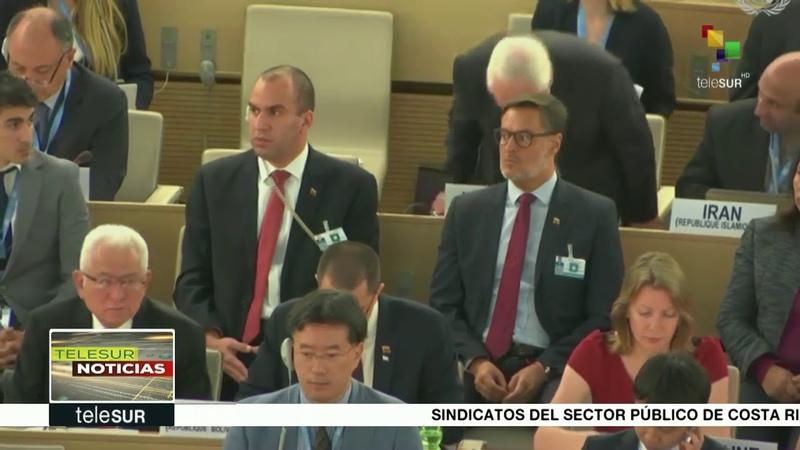 Condena Venezuela ante Consejo DDHH de ONU bloqueo de EE.UU.