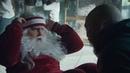Санта-Клаус похудел, чтобы поместиться в спортивном автомобиле