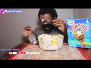 [good eating asmr] asmr: eating ice cream ben & jerry *no talking* extreme crunchy sounds*